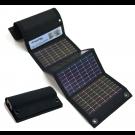 USB+AA Solar Charger BLACK
